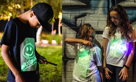 From $25 for a Smart and Interactive Reusable Super Glow Draw-On T-Shirt (Don't Pay Up to $44)