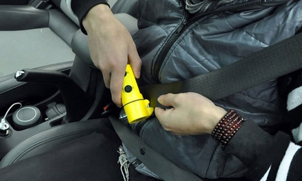 Four In One Car Emergency Tool with LED Light: One ($9.95) or Two ($16)