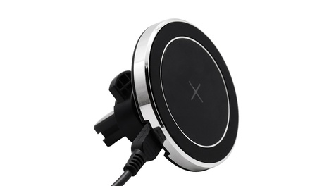Magnetic Wireless Charging Car Air Vent Mount for QI-Enabled Smartphones