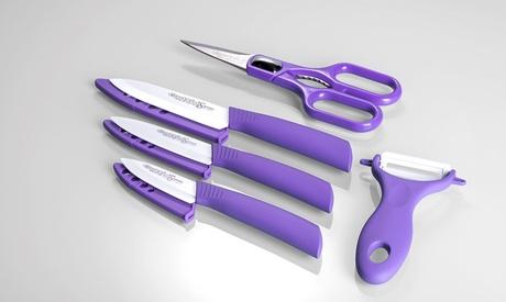 Set de 3 cuchillos cerámicos Quttin con pelador y tijeras