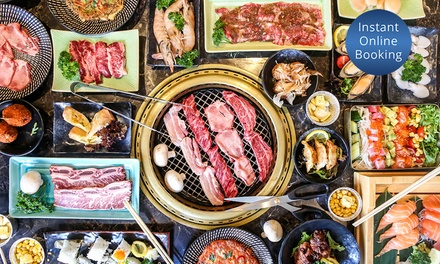 AYCE BBQ Buffet: Lunch for 2 ($69), 4 ($138), 6 ($207), Dinner for 2 ($98), 4 ($196), 6 Ppl ($294), Yakiniku Gyuzou BBQ