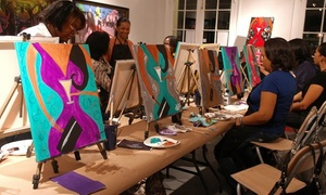 M. Francis Gallery and Studios: BYOB Art Journaling, Painting, or Advanced Painting Class for Two or Four at M. Francis Gallery and Studios (Up to 51% Off)