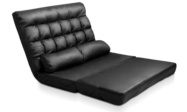 Adjustable lounge sofa bed groupon for Sofa bed groupon