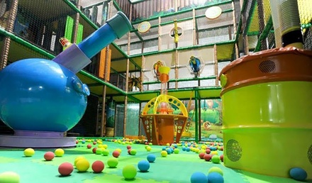 Play Area Entry + Coffee: Adult and Child (from $9.50) with Optional Kids Meal ($13.50) at Play Cave (from $19 Value)