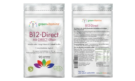 90 GreenVitamins B12-Direct Vitamintabletten (63% sparen*)