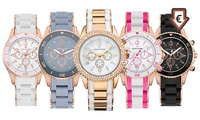 One or Two Timothy Stone Amber Silicone Watches with Crystals from Swarovski® With Free Delivery