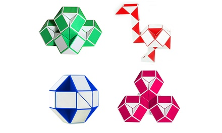 Magic Changeable Twist Snake Cube Puzzle (1-, 2-, or 4-Pack)