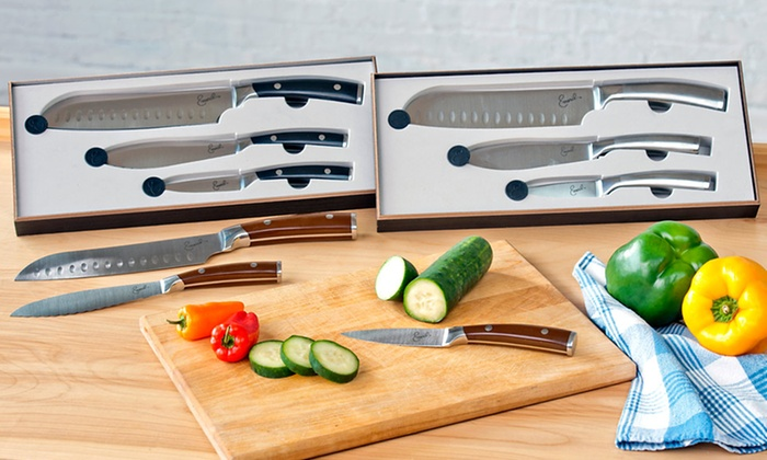 Emeril Three-Piece Knife Set: $27.99 for an Emeril Three-Piece Knife Set ($49.99 List Price). Three Styles Available. Free Shipping and Returns.