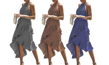 1 o 2 vestidos asimétricos con estampado con lunares