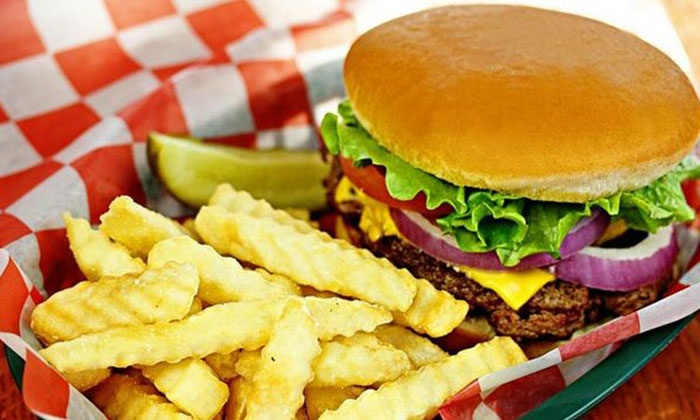 Jefferson's Restaurant - Brentwood: Burger Meal with Appetizers and Soft Drinks for Two, Four, or Family of Four at Jefferson's Restaurant (Up to 53% Off)