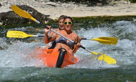 Descente en canoë sur un parcours de 8 ou 32 km pour 2 ou 4 personnes dès 30 € avec Canoë Ardèche Bateaux