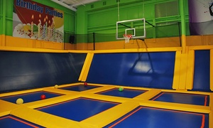 The Zone Complex: Two, Four, or Six One-Hour Trampoline Jump Passes at The Zone Complex (Up to 52% Off)