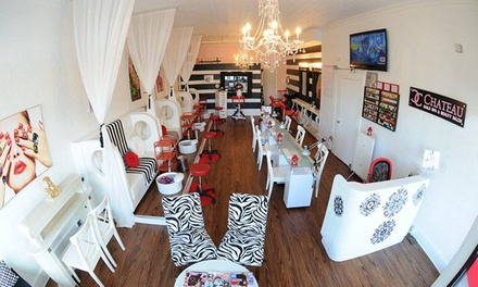 Spa mani pedi yasmin nails spa groupon for Yasmin beauty salon