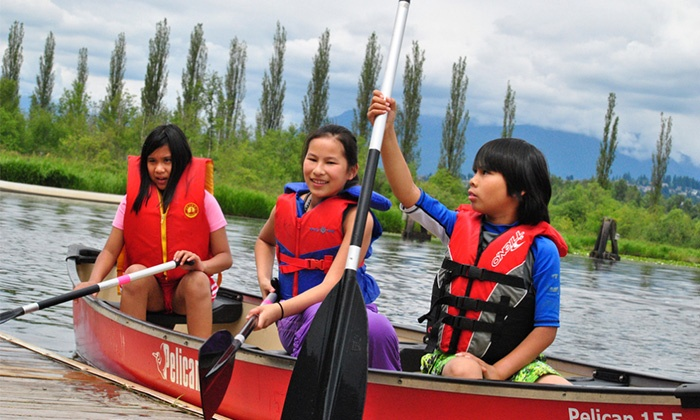 Burnaby Canoe and Kayak - Burnaby Lake: Summer Camp for One or $50 Toward Boating Programs for Kids and Adults at Burnaby Canoe and Kayak (50% Off)
