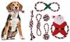 Six-Piece Christmas Pet Cotton-Blend Chew Toy Set