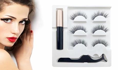 Kit de faux-cils et eyeliner magnétiques