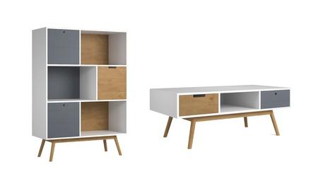 Conjunto de muebles de salón Leti de estilo escandinavo