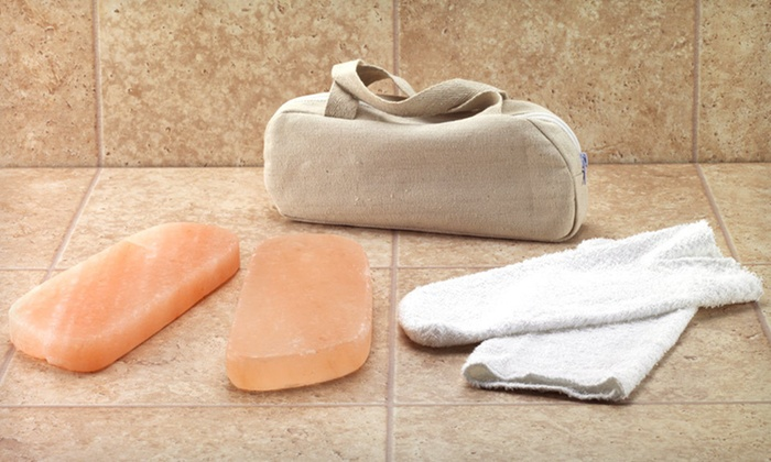 Two Himalayan-Salt Foot-Detox Blocks: $25 for Two Himalayan-Salt Foot-Detoxification Blocks with Case ($49.95 List Price). Free Shipping and Free Returns.