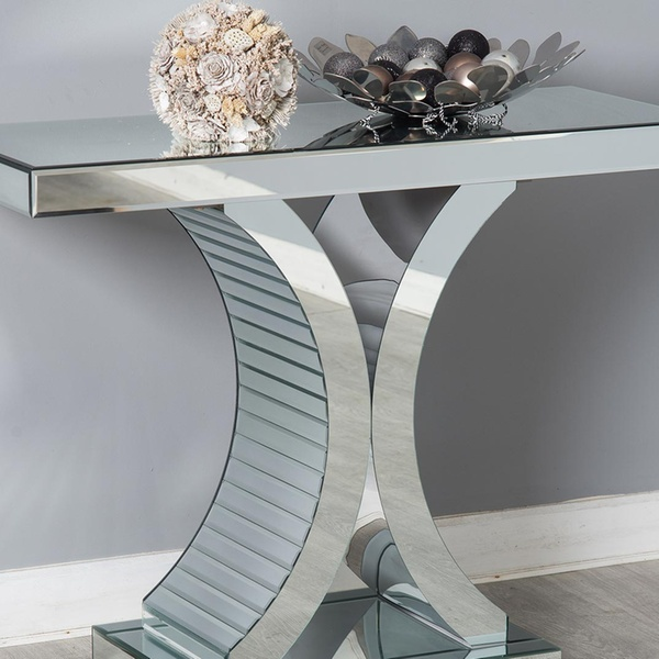 V Or C Style Mirror Console Table With Free Delivery