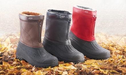 Unisex Fleece-Lined Zip Boots