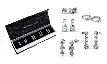 Five-Days Earrings with Crystals from Swarovski® from AED 119 (Up to 72% Off)