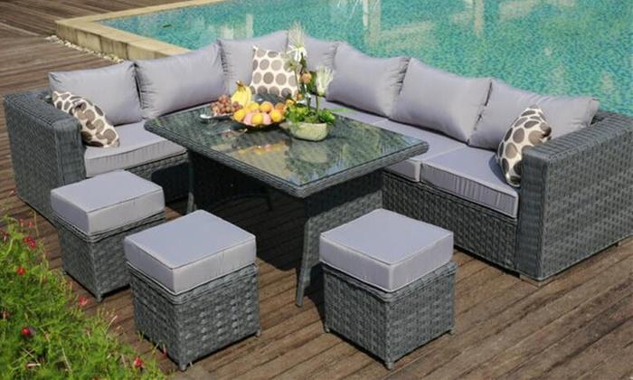 Nine Seater Sofa And Dining Set Groupon