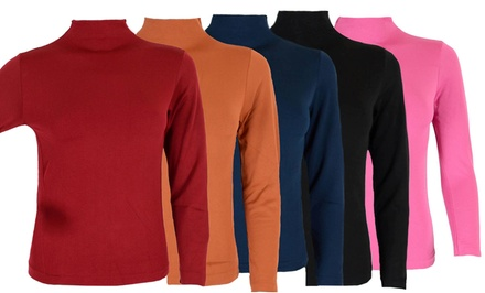 Women's Fleece Lined Turtleneck