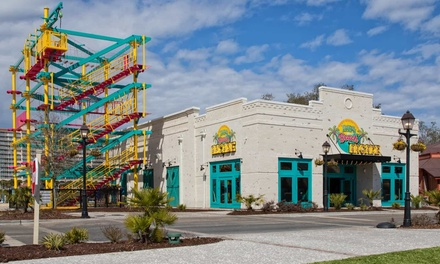 Ropes-Course Admission with Arcade Card at LuLu's Beach Arcade (Up to 55% Off). Three Options Available.