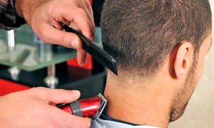 Crooks Imperial Barber Shop: Men's Hair Packages with Options for Hot-Towel Shaves at Crooks Imperial Barber Shop (Up to 57% Off)