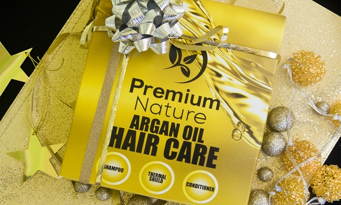 Argan Oil Hair Care Set By Premium Nature