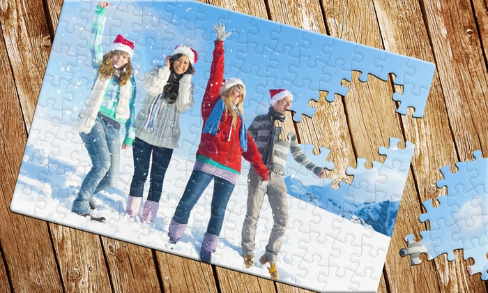 "Printerpix: Customizable Photo Puzzle in 5""x7"", 11""x8"", or 12""x11"" Size from Printerpix"