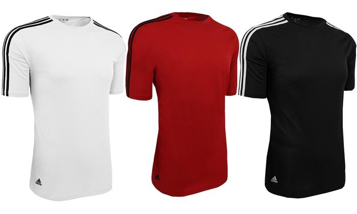 oficjalna strona świetne okazje 2017 oficjalna strona Adidas Men's Climalite 3-Stripes Performance Active T-Shirt ...
