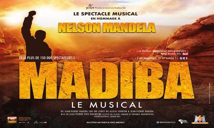 1 place pour la tournée Madiba Le Musical dans toute la France dès 20 €