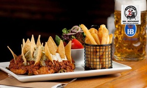 Schnithouse: 2-Course Lunch with Wine for 1 ($25), 2 ($39) or 4 People ($75) at Schnithouse, 2 Locations (Up to $206.80 Value)