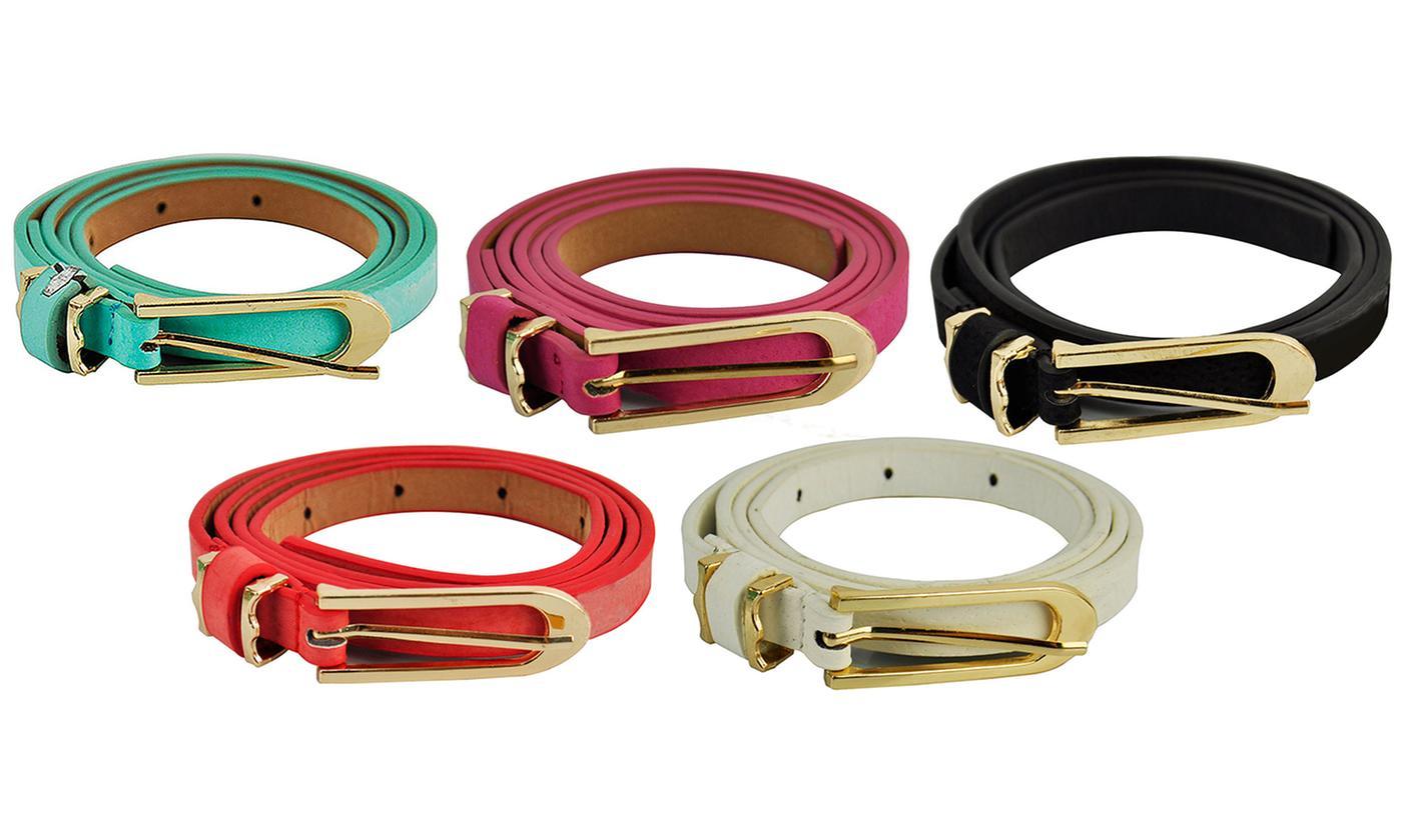 One or Two Women's Skinny Belts