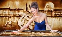 """2 Tickets für die Sand-Malerei-Show """"Hamburg in Sand gemalt""""in der Elbarkaden Lounge (bis zu 49% sparen)"""
