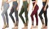 Women's Lattice-Hem High-Waist Leggings (3-Pack)