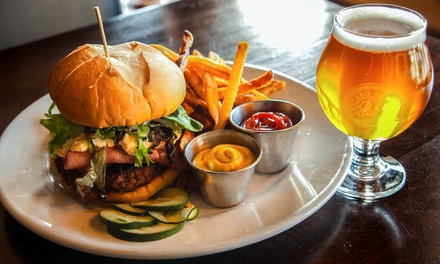 Burger Meal with Beer for Two