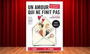 """Comédie de Bruxelles: 1 plaats in categorie 2 voor """"Een liefde die niet eindigt"""", datum naar keuze voor € 13,50 in Ukkel CC"""