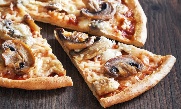 Mega Ill Pizzeria and Cafe - Mega Ill Pizzeria and Cafe: Up to 50% Off Pizzas at Mega Ill Pizzeria and cafe
