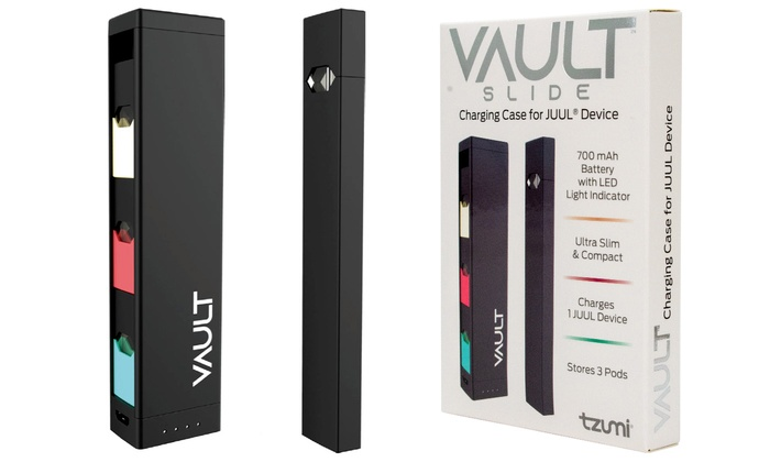 Tzumi Vault Slide Portable Charging Case for JUUL Device (1- or 2-Pack)