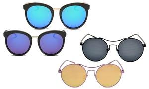 Amphora Collection Women's Aviator UV Polarized Sunglasses