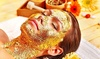 Gesichtsbehandlung mit Goldmaske