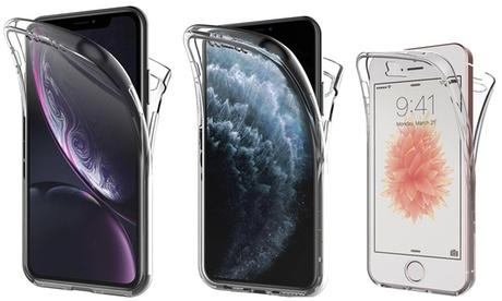 Coque double en silicone transparent pour iPhone, livraison gratuite