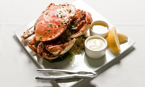 The Crab King: Waterfront Seafood Crab Dinner or Hot-Pot Dinner at The Crab King (45% Off)