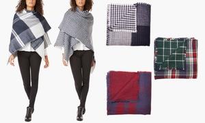Women's Oversized Reversible Blanket Scarf