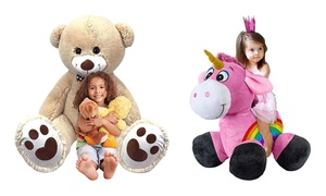Inflate-a-mals Inflatable Plush Animals - Ride-on or My Giant 5 Ft Pal