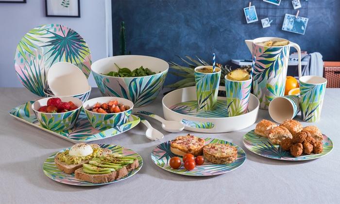 nouveau concept 4e41d 9d53f Set vaisselle bambou   Groupon