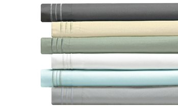 Bamboo 3-Line Embroidery Sheet Set