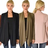 Lyss Loo Women's Ribbed Cardigan with Suede Elbow Patch
